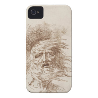 King Lear in the Storm (pen and bistre ink on pape Case-Mate iPhone 4 Case
