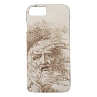 King Lear in the Storm (pen and bistre ink on pape iPhone 8/7 Case