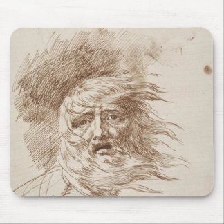 King Lear in the Storm (pen and bistre ink on pape Mouse Pad
