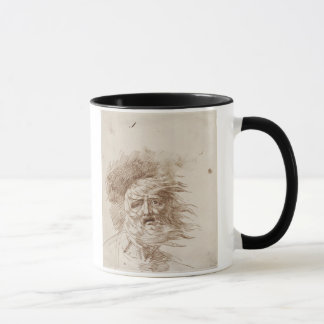 King Lear in the Storm (pen and bistre ink on pape Mug