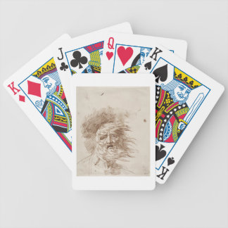 King Lear in the Storm (pen and bistre ink on pape Deck Of Cards