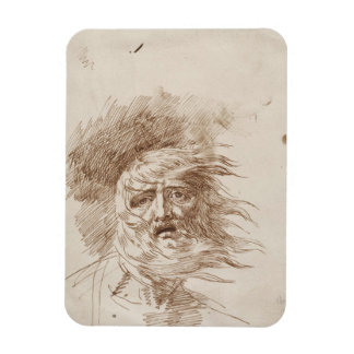 King Lear in the Storm (pen and bistre ink on pape Magnets