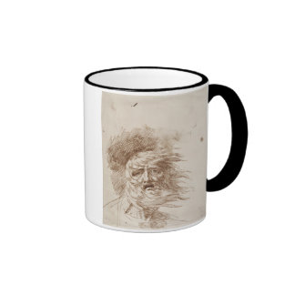 King Lear in the Storm (pen and bistre ink on pape Ringer Coffee Mug