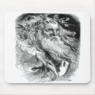 King Lear with Flowers Mouse Pad