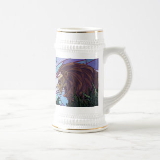 King Lion and Cubs Beer Stein
