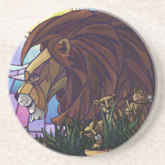 King Lion and Cubs Coaster
