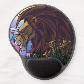 King Lion and Cubs Gel Mouse Pad