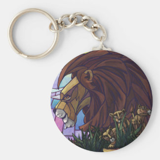 King Lion and Cubs Keychain