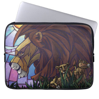 King Lion and Cubs Laptop Computer Sleeve