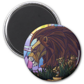 King Lion and Cubs Magnet