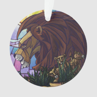 King Lion and Cubs Ornament
