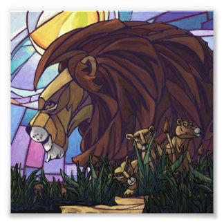King Lion and Cubs Photo