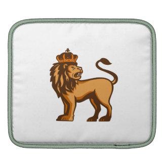 King Lion Crown Looking Side Retro iPad Sleeves