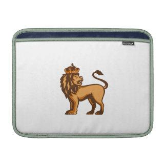King Lion Crown Looking Side Retro Sleeve For MacBook Air