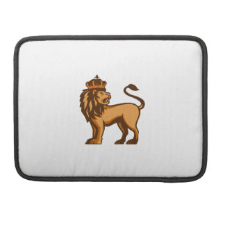 King Lion Crown Looking Side Retro Sleeve For MacBooks