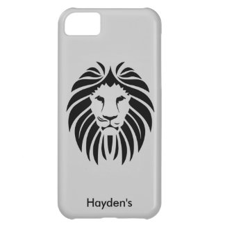 King Lion Face Jungle Animal Optional Custom Name iPhone 5C Cases