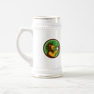 King Lion Holding House Circle Retro Beer Stein