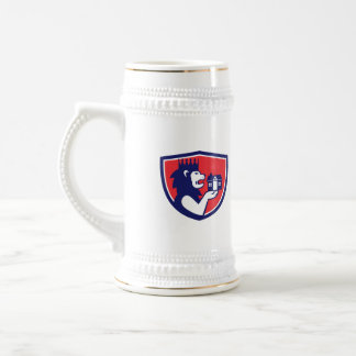 King Lion Holding House Crest Retro Beer Stein
