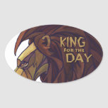 King Lion, King for the Day Oval Sticker