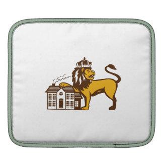 King Lion Paw on House Isolated Retro iPad Sleeve