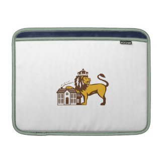 King Lion Paw on House Isolated Retro MacBook Air Sleeves