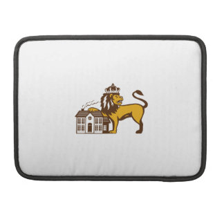 King Lion Paw on House Isolated Retro Sleeve For MacBook Pro
