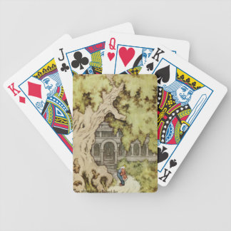 King Looks up into Giant Tree Bicycle Playing Cards