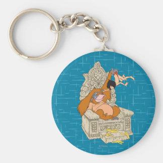 King Louie Basic Round Button Keychain