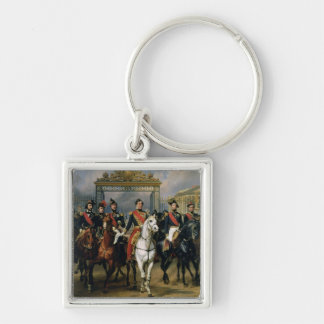 King Louis-Philippe (1773-1850) of France and his Silver-Colored Square Keychain