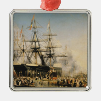 King Louis-Philippe  Disembarking at Metal Ornament