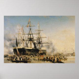King Louis-Philippe  Disembarking at Poster
