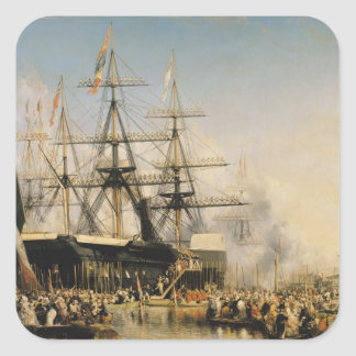 King Louis-Philippe  Disembarking at Square Sticker