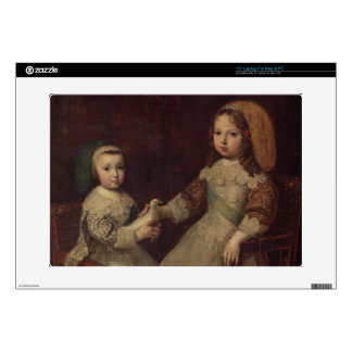 """King Louis XIV (1638-1715) as a child with Philipp 15"""" Laptop Skins"""