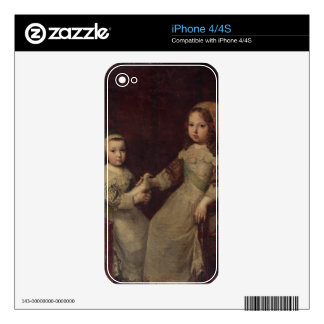 King Louis XIV (1638-1715) as a child with Philipp iPhone 4S Skin