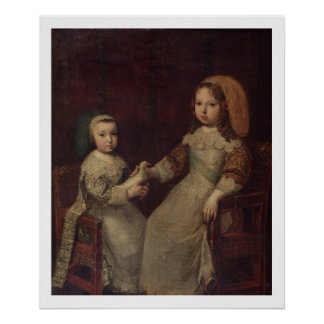 King Louis XIV (1638-1715) as a child with Philipp Poster