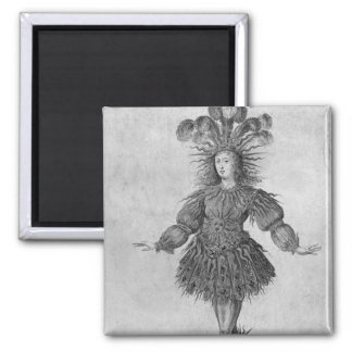 King Louis XIV of France 2 Inch Square Magnet