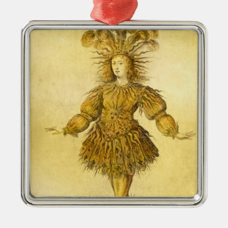 King Louis XIV of France Metal Ornament