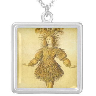 King Louis XIV of France Silver Plated Necklace