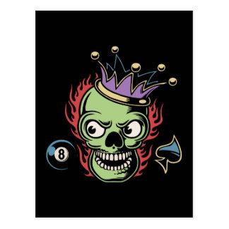 KIng Lucky Skull Postcard