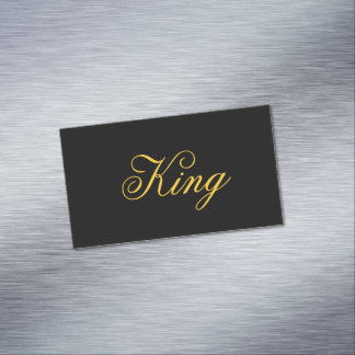 King Magnetic Business Cards
