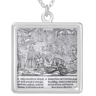 King Malcolm of Scotland Silver Plated Necklace
