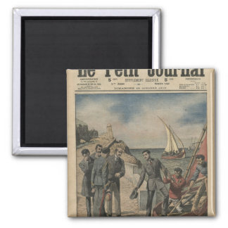 King Manuel II of Portugal bidding farewell 2 Inch Square Magnet