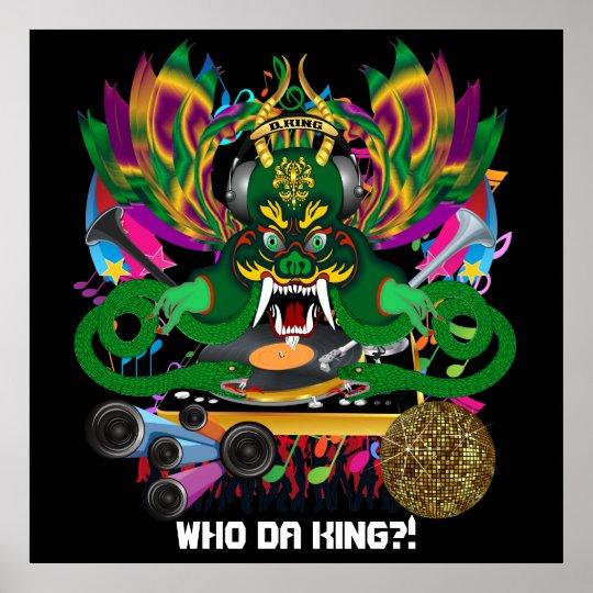 King Mardi Gras Theme Plse View Notes Poster