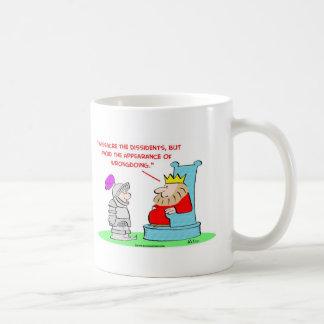 king massacre dissedents appearance wrongdoing coffee mug