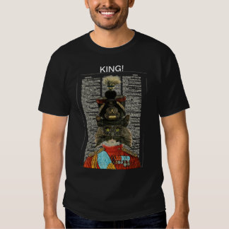KING! MENS DARK T SHIRT WITH MILITARY MUSTACHEDCAT