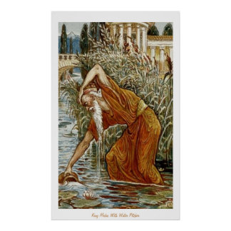 King Midas With Water Pitcher Poster
