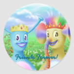 King Monty and Prince Marvin Round Stickers
