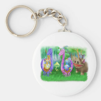 King Monty and the gang in Brimlest Forest Basic Round Button Keychain