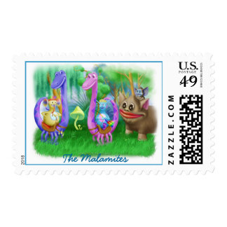 King Monty and the gang in Brimlest Forest Postage Stamp