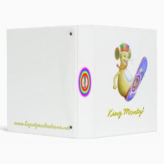 King Monty on Skate Board 3 Ring Binder